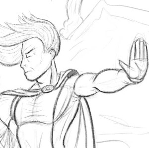 Sketch of Mordred for Issue 47